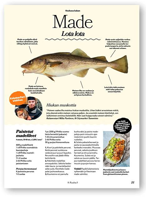 Lehdessä oli näyttävä sivu mateen valmistuksesta.
