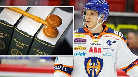Sebastian Repo mittauttaa SM-liigan yleissopimuksen pitävyyden oikeudessa.