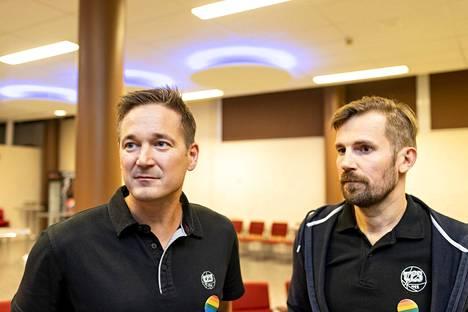 Ilkka Paananen (vas.) ja Mikko Kodisoja haluavat parantaa seuran viestintää.