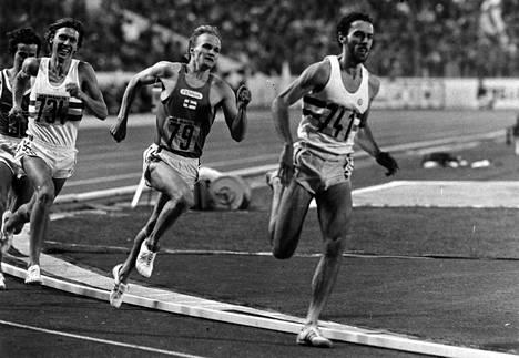 Antti Loikkanen (numero 79) vauhdissa Prahan EM-kisoissa 1978.
