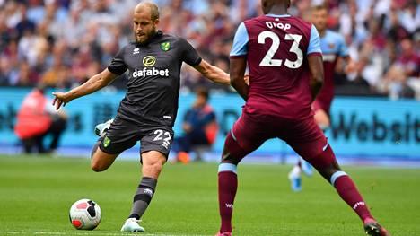 Teemu Pukki jäi lauantaina West Hamia vastaan ensi kertaa ilman maalia Valioliigassa.
