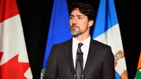 Kanadan pääministeri Justin Trudeau puhui sunnuntaina Albertan yliopistossa järjestetyssä lentoturman uhrien muistotilaisuudessa.