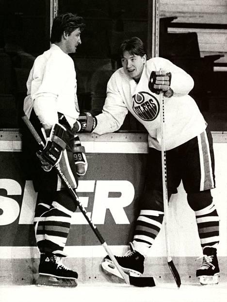 Ikoninen kiekkoduo Wayne Gretzky-Jari Kurri terrorisoi NHL-kaukaloita 1980-luvulla.