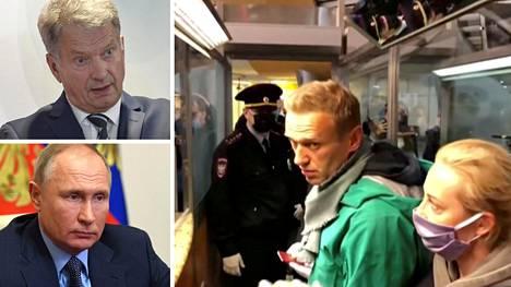 Tasavallan presidentti Sauli Niinistö on keskustellut Navalnyin tilanteesta Venäjän presidentin Vladimir Putinin kanssa.