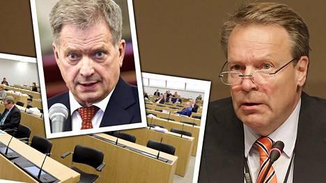 Ilkka Kanervan (oik.) mukaan Iltalehden arvio linjariidasta presidentin ja eduskunnan välillä on mennyt metsään.