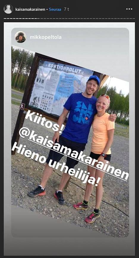Mikko Peltola liittyi Mäkäräisen kiittäjien joukkoon.