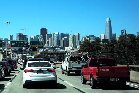 Liikenneruuhka San Franciscossa.