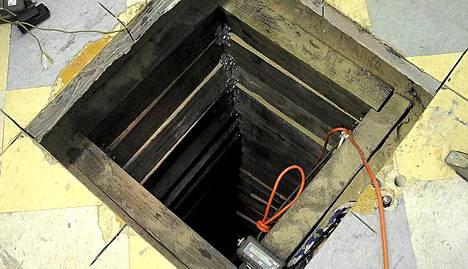 Tunnelin pää oli varastorakennuksessa Yhdysvaltain San Luisissa Arizonan osavaltiossa.