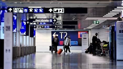 Hiljainen Helsinki-Vantaan terminaali 29. tammikuuta.