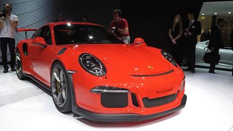 Porsche 911 GT3 RS esiteltiin Genevessä tänä vuonna.