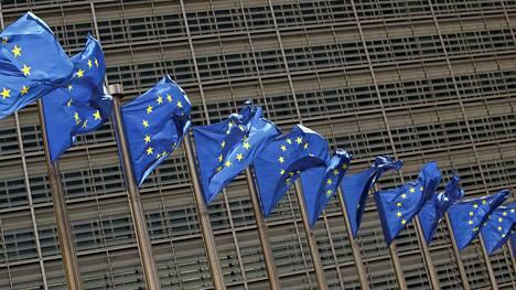 EU:n liput liehuivat Brysselissä viime viikolla.