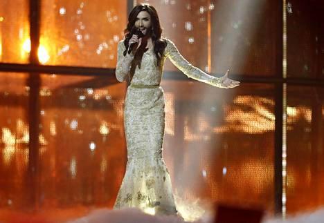 Conchita Wurst voitti Euroviisut vuonna 2014.