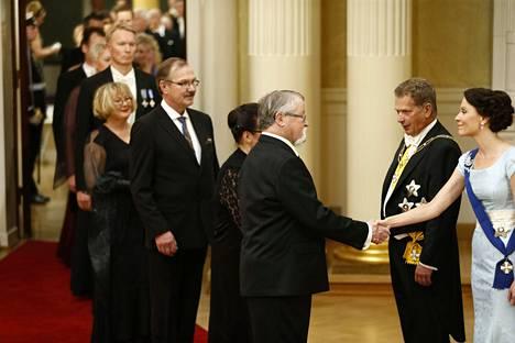 Jorma Kinnunen oli Linnan juhlissa vuonna 2014. Ensimmäisen kerran hän sai kutsun itsenäisyyspäivän vastaanotolle presidentti Urho Kekkoselta.