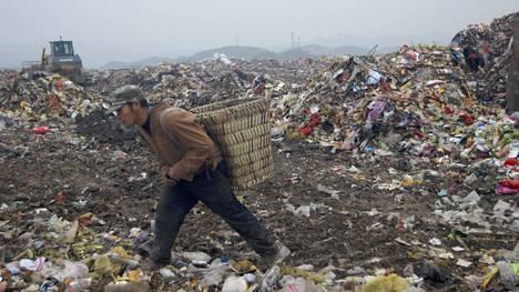 Jiangcungoun kaatopaikka on Kiinan suurin.