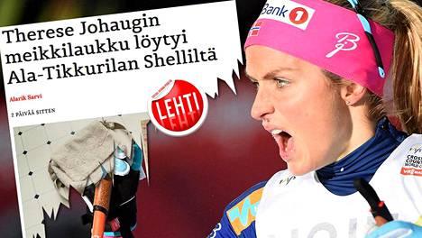Satiirisivusto irvailee Therese Johaugin dopingkärylle.