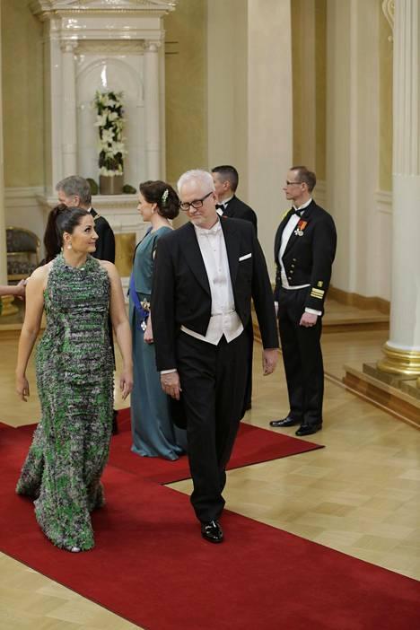 Helin saapui Linnaan vihreänsävyisessä puvussa myös vuonna 2017.