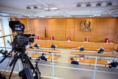 Saksan perustuslakituomioistuin kokoontui Karlsruhessa eilen.