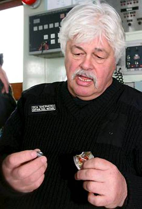 Sea Shepherd -ryhmän johtaja Paul Watson.
