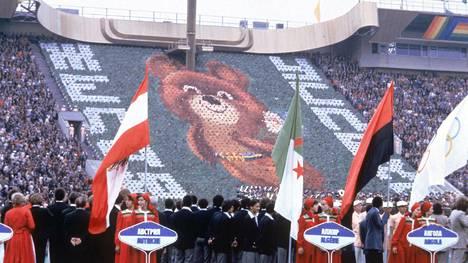 Miska-karhu oli Moskovan kisojen rakastettu maskotti.