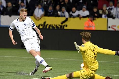 Jasse Tuominen teki avausmaalin, kun ottelua oli pelattu 20 minuuttia.