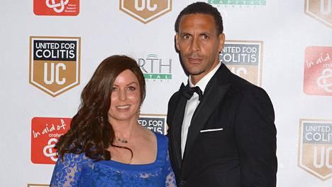 Rebecca ja Rio Ferdinand maaliskuussa 2014.