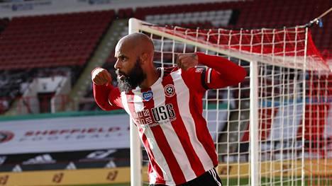 David McGoldrick iski kaksi maali Sheffield Unitedin voitossa.