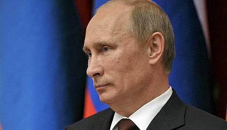 Presidentti Vladimir Putin puhui Moskovassa lehdistölle.