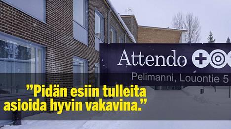 Pidän esiin tulleita asioida hyvin vakavina, sosiaalihuollon ylitarkastaja Saija Kujansuu Länsi- ja Sisä-Suomen aluehallintovirastosta sanoo Attendo Pelimannista.
