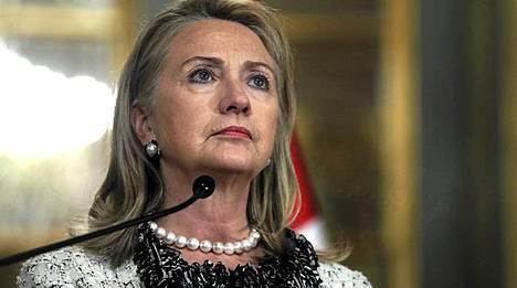 Hillary Clinton puhui maanantaina 15. lokakuuta Perun pääkaupungissa Limassa.