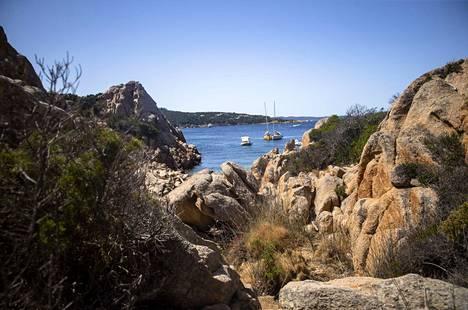 Veneitä kuvattuna Sardinian Spiaggia della Contessassa pari viikkoa sitten.