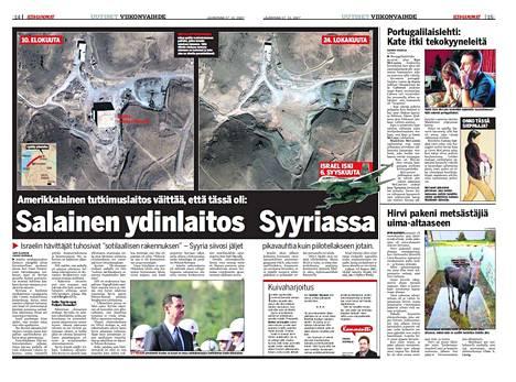 Ilta-Sanomien uutinen 27.10.2007.