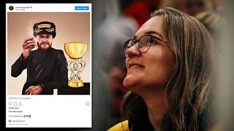 Kuopiolaisen Meri Hyvärisen Valtteri Bottaksesta piirtämänsä teos oli jaettu Mercedeksen F1-tallin virallisilla sosiaalisen median tileillä, Instagramissa ja Twitterissä.