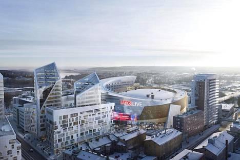 Areena valmistuu aivan Tampereen keskustaan.