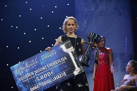 Vainio palkittiin vuoden nuorena urheilijana Urheilugaalassa viime viikolla.