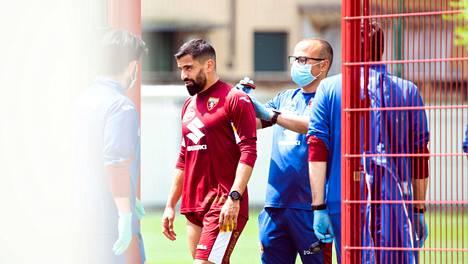 Torinossa treenattiin hiljattain koronamääräysten mukaisesti.