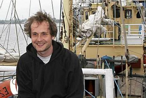 Jyri Jaakkola Estelle-laivalla kesäkuussa 2007.