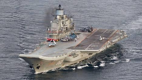 Venäjän ainoa lentotukialus Admiral Kuznetsov on parhaillaan Välimerellä Syyrian edustalla.