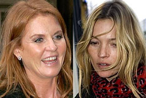 Sarah Fergusonin kiinnostus kaveerata Kate Mossin kanssa ei lämmitä Englannin hovin mieltä.