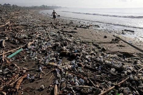 Tältä näyttää Matahari Terbit -rannalla Balilla.