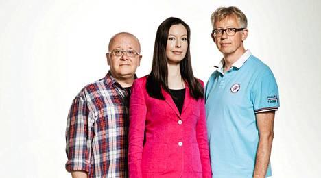 Juha Föhr, Mette Mannonen ja Pekka Pouta.