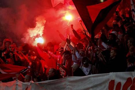 Stadin derbyjen tunnelma on ollut huumaavaa.