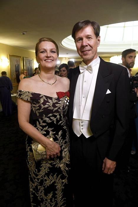 Mari Kiviniemi ja Juha Louhivuori