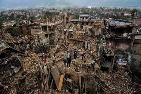Huhtikuussa 2015 Nepalissa sattui maanjäristys.