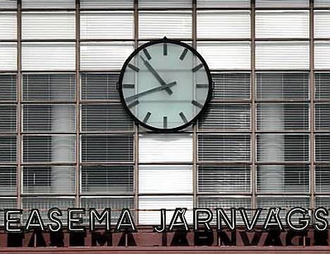 Turun aseman kello on yksi kaupungin maamerkeistä.