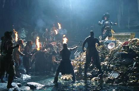 Pirates of the Caribbean -elokuvasarjasta on julkaistu viisi osaa.