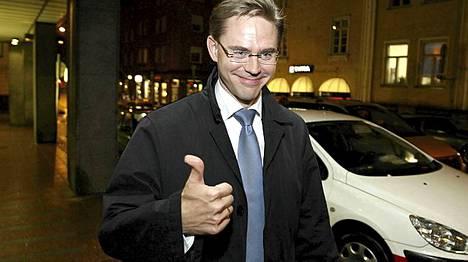 Kokoomuksen puheenjohtaja Jyrki Katainen vaali-iltana 2008.