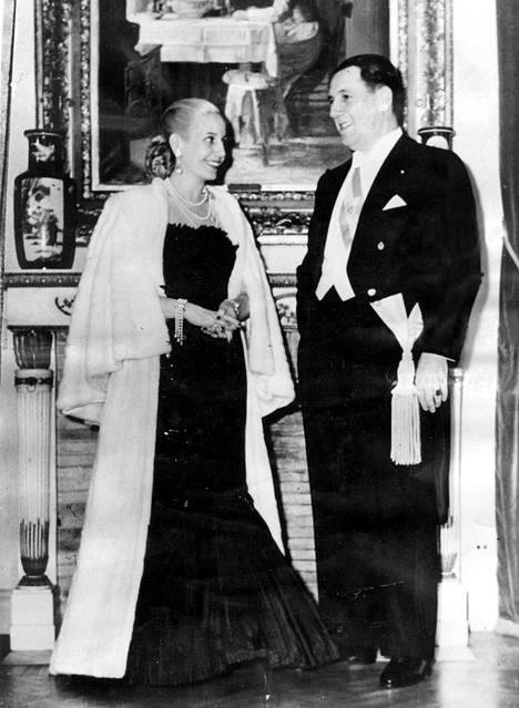 Argentinan presidentti Juan Peron ja Eva vuonna 1951.