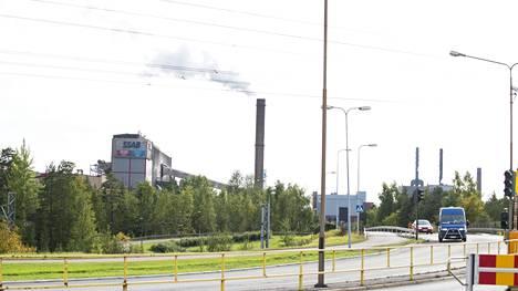 Turma tapahtui SSAB:n terästehtaalla Raahessa.