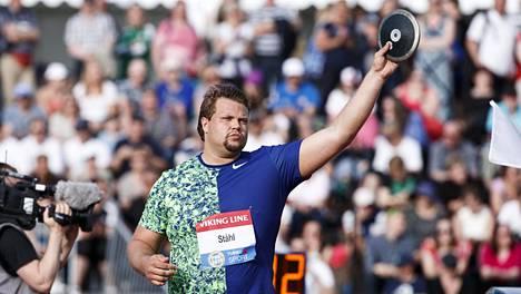 Daniel Ståhl viime kesänä Turun Paavo Nurmi Games -kisoissa.