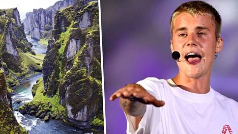 Justin Bieber kuvasi jättisuositun I'll Show You -kappaleensa musiikkivideon Fjaðrárgljúfurilla.